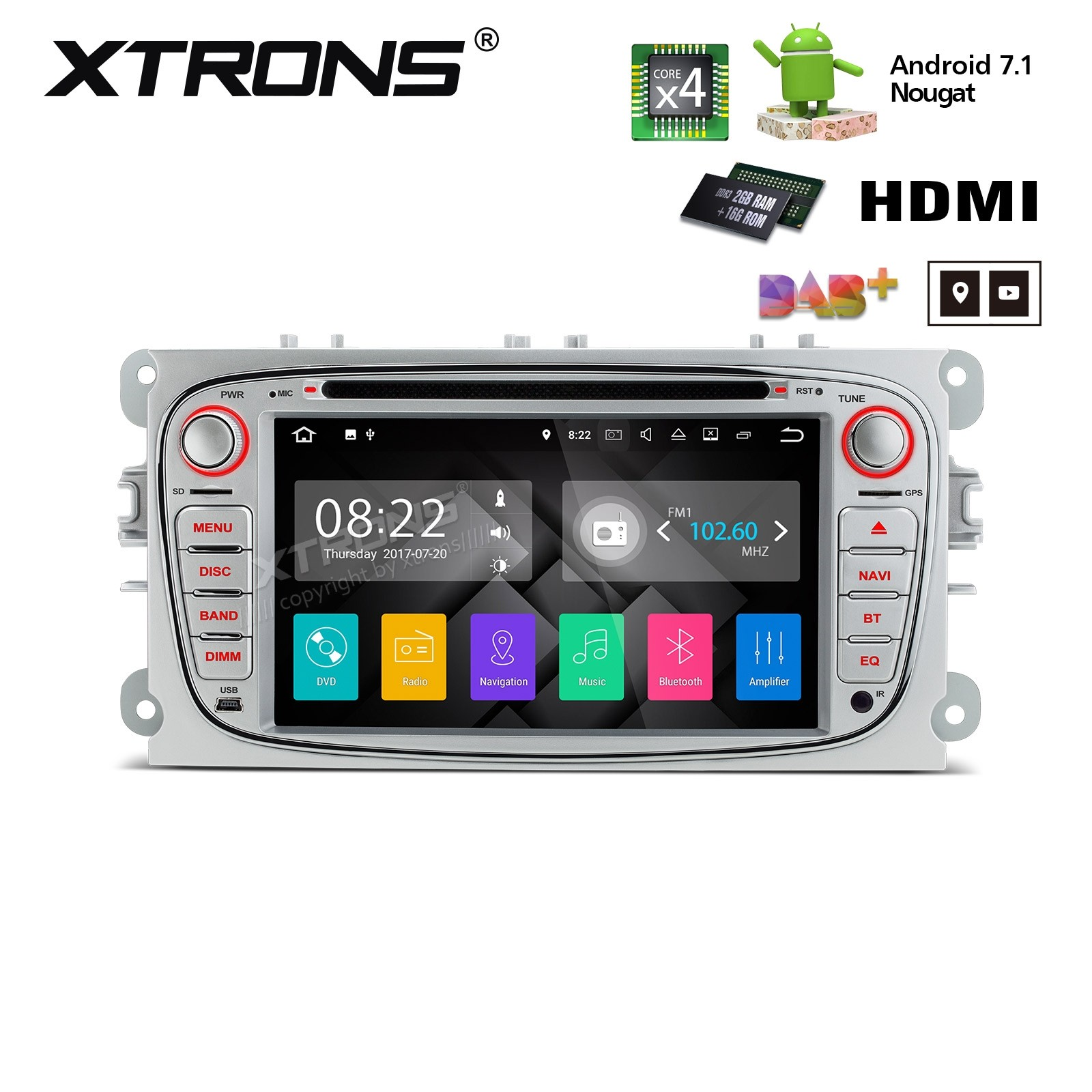 XTRONS PA77FSFP-S