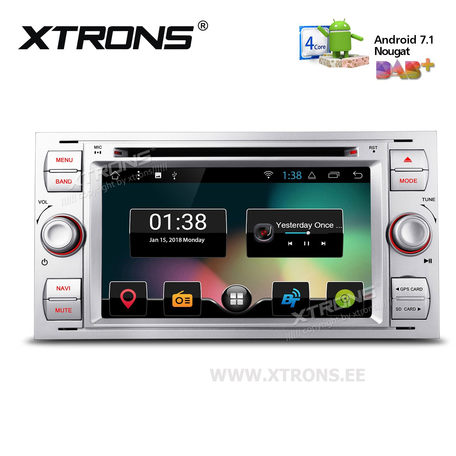 XTRONS PCD77QSF-S