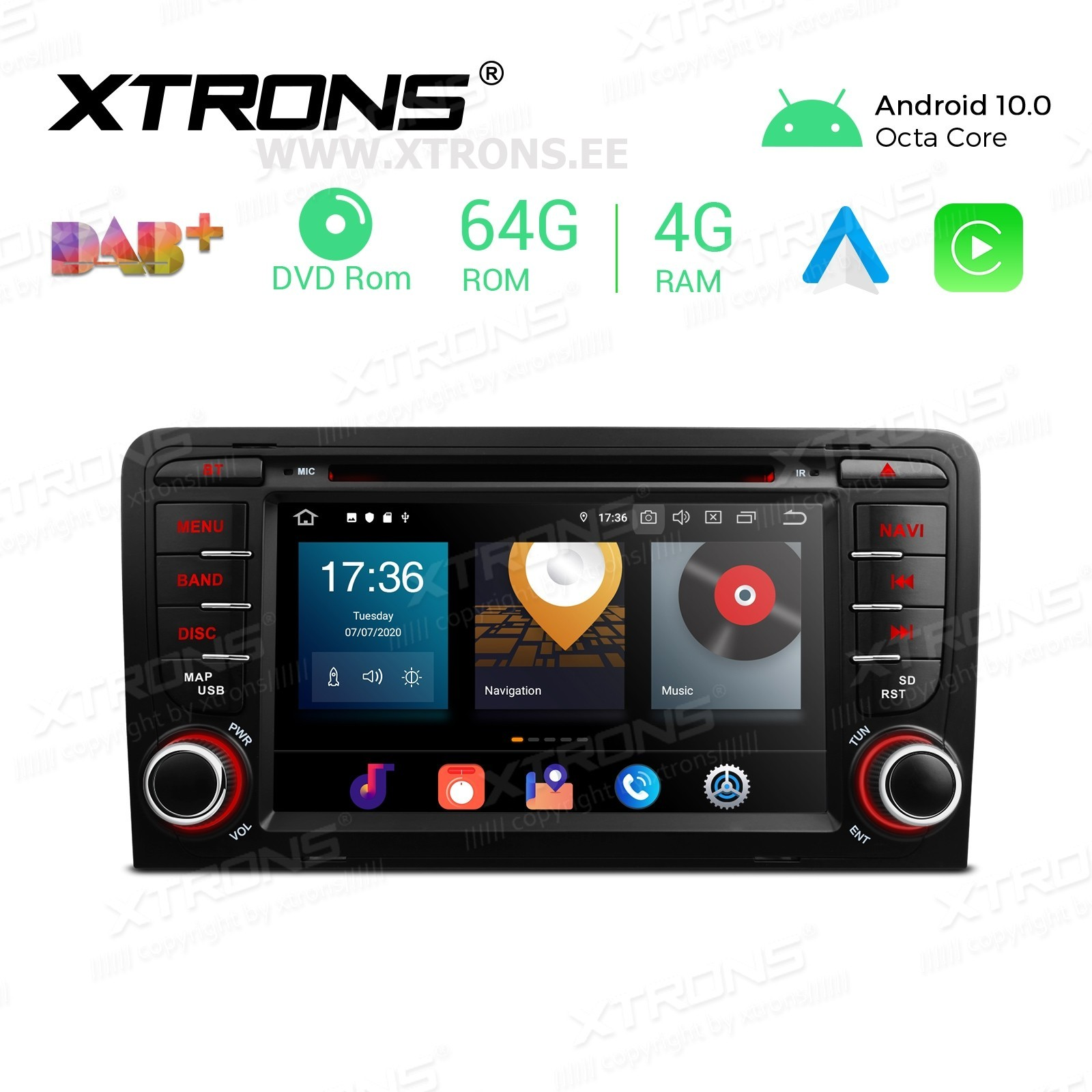 XTRONS PBX70AA3